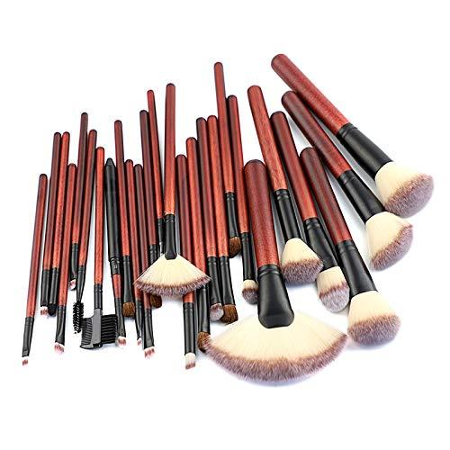 JUJA Pincel de Maquillaje Mango de Madera Profesional Kabuki sintético fundación Colorete Rubor Corrector máscara para los Ojos líquido en Polvo Crema cosmética Labio BR