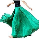 falda larga mujer Sannysis Cintura larga camiseta maxi faldas