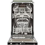 White Knight DW0945IA - fully integrated - 9 places A+ dishwasher - dishwashers (fully built-in, black, cold, 9 places, 49 dB, A)