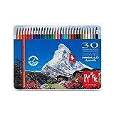 Caran d'Ache CD 0999–330 PRISMALO Aquarelle soluble dans l'eau crayon de couleur (lot de 30)