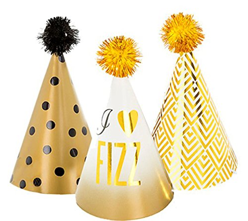 erdbeerclown - Mini Party Hüte Glitterati, 11 cm, 6 Stück , (Mini Clown Melone Hut)