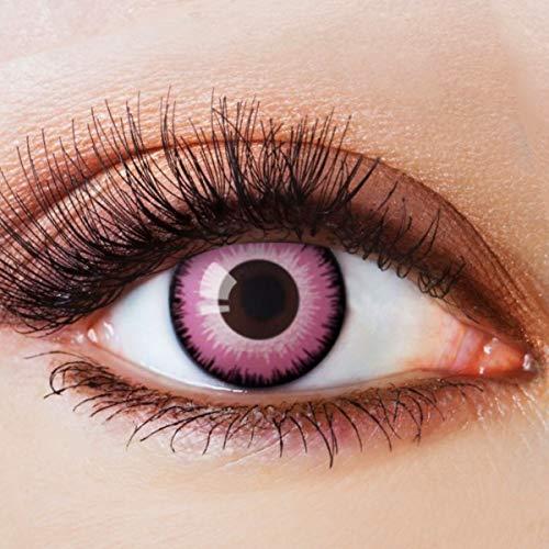 Farbige Kontaktlinsen Pink Rosa Ohne Stärke Motiv Eye Linsen Halloween Karneval Fasching Cosplay Kostüm Eyes Pinke Augen Barbie Einhorn