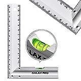 GALAX PRO Righelli in Acciaio Inossidabile 150mm/6inch, 90 Quadrati di Precisione con livella a bolla d'aria, Maniglia in lega di alluminio, per ingegneria, misurazione, disegno - S0403