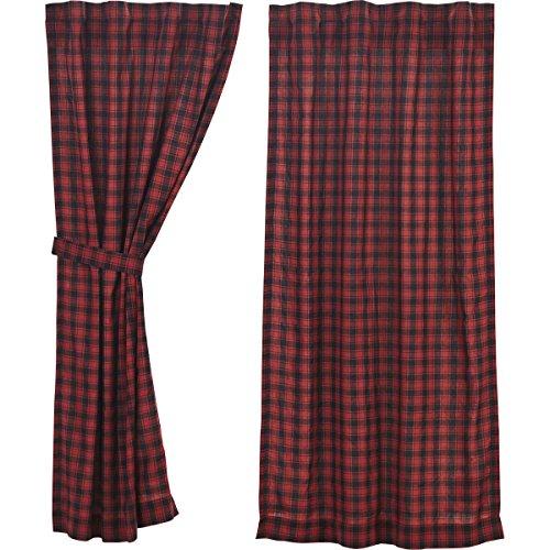 Lodge Fenstervorhang, kurz, Rot ()