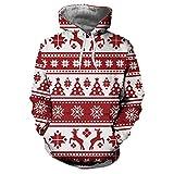 Yvelands Sweatshirt Kapuzenpullover Herbst Winter Weihnachten Druck Langarm Hoodies Sweatshirt