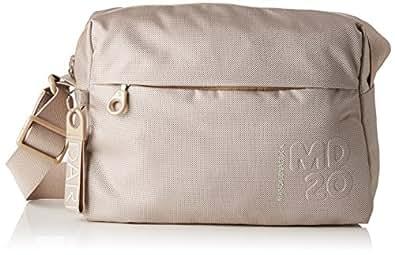 Md20 Tracolla, Womens Shoulder Bag, Grey (Light Taupe), 10x26x29 cm (B x H T) Mandarina Duck