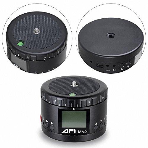 NFDA Mechanische Panorama-360-Grad-Zeitraffer-Schwenkkopf-Kamerahalterung, Hochauflösender LCD-Bildschirm, Zeit und Richtung mit Eingebautem Akku - Für DSLR-Kameras, Gopro und Smartphones