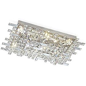 Led XL Glas Kristall Design Deckenleuchte Deckenlampe Wohnzimmer Wandleuchte Wandlampe Wand Leuchte 62 x 40 cm inkl. 9x 3W G9 Led Leuchtmittel