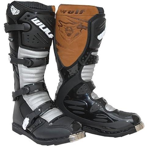 Wulf Libre X1 MX Adult Motocross Boots 44 Black/Grey (UK 9.5)