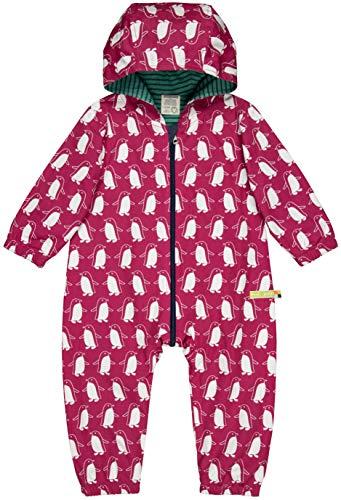 loud + proud Unisex Baby Wasserabweisender Overall Aus Bio Baumwolle, GOTS Zertifiziert Schneeanzug, Rosa (Berry Ber), 80 (Herstellergröße: 74/80)