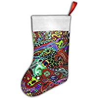 False warm warm Psychedelic Music Festival Personalized Christmas Hanging Stockings Bag Socks Christmas Tree Decoration Custom Gifts (Christmas Tree Decoration)