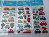 5 x small sheets of cars, bus, traffic, lorry, van Stickers for kids boys, craft, scrap books, card making, gift party bags
