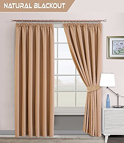 Interwoven Supersoft Insulated Thermal Blackout Pencil Pleat Pair Curtains for