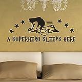 Vovotrade Super-héros Dort Ici Stickers Muraux Chambre d'enfants Décoration...