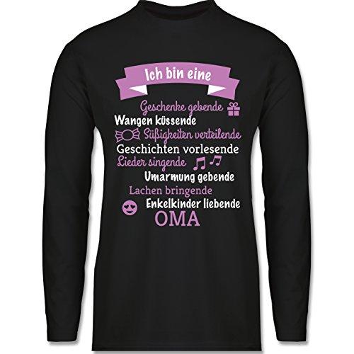 Geburtstag - Ich bin eine ... Oma! - Longsleeve / langärmeliges T-Shirt für Herren Schwarz