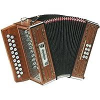ACORDEON DIATONICO - Hohner (A/2650) (Morgane GC) (Ideal para Musica Gaelica y Bretona) (Dorado)