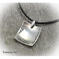 Kette für Männer mit Gravur Namen Familienkette Silber