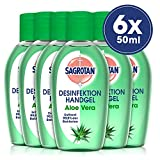 Sagrotan Healthy Touch Hand-Desinfektionsgel Aloe Vera, Desinfektion für unterwegs, 6er Pack (6x50ml)