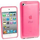 igadgitz Kristall Gel (TPU thermoplastisches Polyurethane) dauerhafte Schutzhülle Etui Case Hülle Tasche Sleeve in Pink Rosa für Apple iPod Touch 4G 4. Gen Generation 8gb 32gb & 64gb + Display Schutzfolie