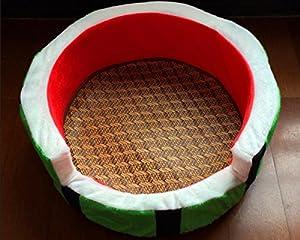 Petit chien animal chenil nid pastèque quatre saisons litière pour chat chenil coton animal tapis de chien nid