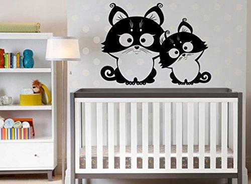 Zwei Lustige Eulen Nette Wandaufkleber Baby Kinderzimmer Home Art Decor Tier Serie Wandbild Vinyl Abnehmbare Aufkleber 57x80 cm