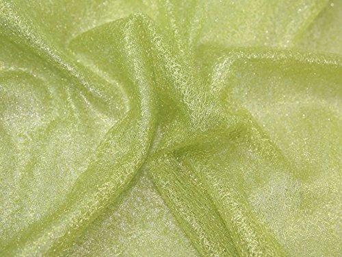 Spider Tüllstoff Stoff Metallic Lime Grün–Meterware + Frei Minerva Crafts Craft Guide (Stoff Lime Metallic)