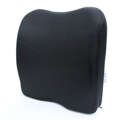 Medi Body Rücken-Kissen Aus Viskose Schaumstoff, Ergonomisches Lendenkissen, Sitzpolsterung Zur Rückenstützung Für Auto, Bürostuhl und auf Reisen -