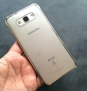 Mobidoc Transparent Gold Chrome Hard Back Cover for Samsung Galaxy A8