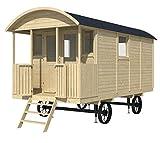 Bauwagen LÖWENZAHN 240 x 500cm Gartenhaus 19mm Holzhaus Anhänger Blockhaus