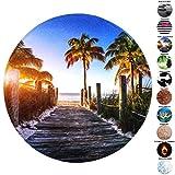Sanilo Badteppich Rund, viele schöne Runde Badteppiche zur Auswahl, hochwertige Qualität, sehr weich, schnelltrocknend, waschbar, 80 cm (Fort Lauderdale, 80 cm)