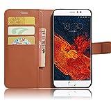 GARITANE Meizu Pro 6 Plus Hülle Case Brieftasche mit Kartenfächer Handyhülle Schutzhülle Lederhülle Standerfunktion Magnet für Meizu Pro 6 Plus (Braun)