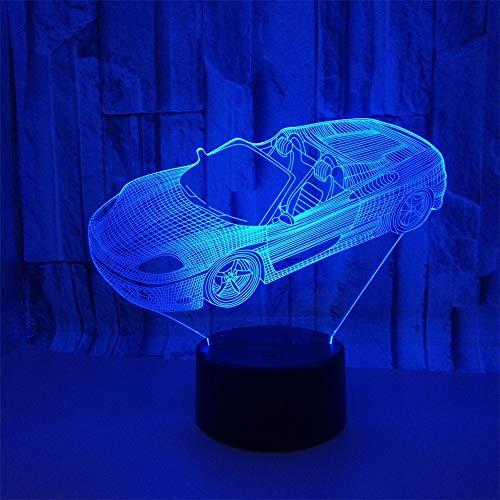 BCYD 3D mond lampe Kinder Wohnkultur 7 Farben Led Nachtlicht Kinder Geschenk Convertible car