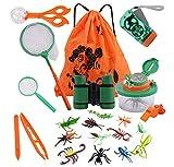 COSORO 18Pcs Kinder Outdoor Exploration Spielzeug Kit-Kinder Abenteuer Kit Spaß Geschenk Spielzeug Für Jungen Mädchen Geburtstagsgeschenk,Kinder Fernglas Set Für Camping Wandern Pretend Play