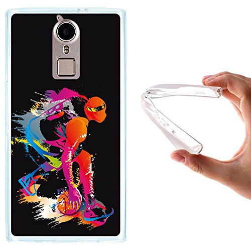 WoowCase Doogee F5 Hülle, Handyhülle Silikon für [ Doogee F5 ] Schwarzer Basketballspieler Handytasche Handy Cover Case Schutzhülle Flexible TPU - Transparent
