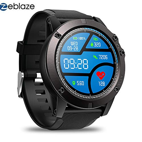 Zeblaze VIBE 3 PRO Smartwatch - Colorful Touch Display Sportivo Cardiofrequenzimetro IP67 Impermeabile Robusto Militare Remoto Fitness Tracker Attività per IOS e Android (Nero)