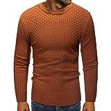 FRAUIT Herren Herbst Winter Slub Muster Pullover Lässige Plaid O-Ausschnitt Strickpullover  Sweatshirt Herren Plaid Strickjacken mit Hemdkragen 6e783bf0f5