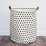 ABTRIX WITH AB Laundry Basket Canvas Washing Laundry Bag Hamper Storage Dirty Clothing Bags Toy Storage Bag Pets Laundry Bins, Sturdy Lightweight (44 L)
