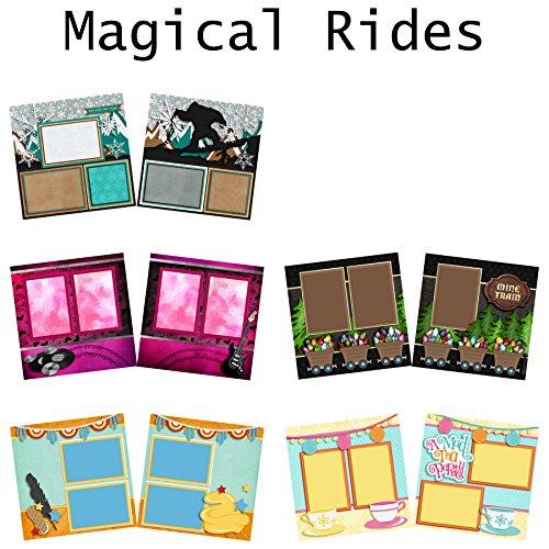 Magic Ride Scrapbook-Set - 5 doppelseitige Layouts
