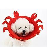 Pingxia Hund Katze Schutzkragen Haustier Halskragen komfortabel Anti-Biss Schutz(Krabbe-M)