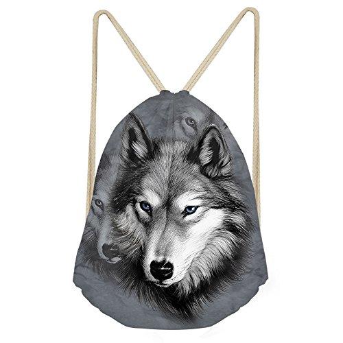 von Jungen, Mädchen Rucksack Schulranzen Schulter Rucksack Umhängetasche mit Alarm, damen, S-W1428Z3, grey wolf, S