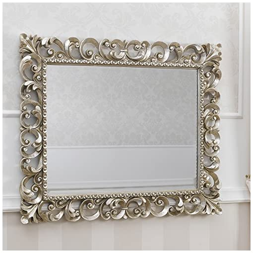 Specchi Barocchi Per Bagno.Specchiera Stile Barocco Cornice Traforata Foglia Argento