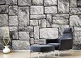 Fondo de pantalla personalizado Estados viento gris pared de ladrillo de piedra retro cuando restaurante fondo 3d fondo de pantalla @ 400 * 280 cm
