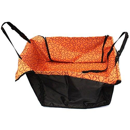 Tutoy Haustier-Hundekatze-Auto-Hintere Rücksitz-Abdeckungs-Matten-Schutz-Hängematten-Kissen Wasserdicht -Orange
