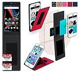 reboon Hülle für Archos 55 Diamond Selfie Lite Tasche Cover Case Bumper | Rot | Testsieger