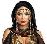 Dreamgirl Orientalische Stirnbandkette Gold/schwarz Ägypterin Indien Bollywood Tanzkostüm Fasching