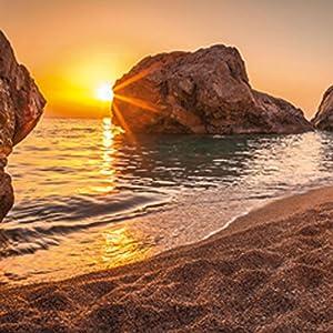 Artland Glasbilder Wandbild Glas Bild einteilig 30×30 cm Quadratisch Strand Meer Südsee Thailand Sonne Urlaub Sommer…