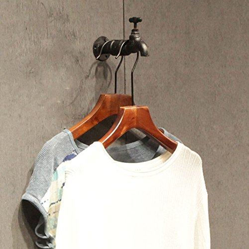 QiangDa Robinet Porte-Manteau Mural Le Fer vêtements Suspendus Magasin de vêtements Style Industriel Vintage, 15 X 8 cm (Taille : 9 Pieces)