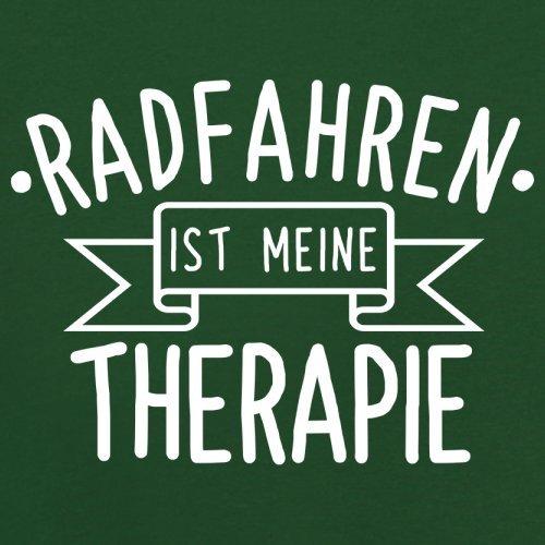 Radfahren ist meine Therapie - Herren T-Shirt - 13 Farben Flaschengrün