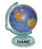 Unbekannt Sparschwein -  Weltkugel / Globus  - incl. Name - drehbar - Reisen Länder Welt / Erde - stabile Sparbüchse - Spardose für die Reisekasse Reisen Geld - Hochz..