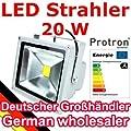Protron 20W LED Flutlicht Fluter Strahler Licht Lampe warmweiß von Protron - Lampenhans.de
